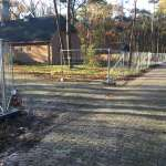 Anchoring Heras mobile fencing foundation